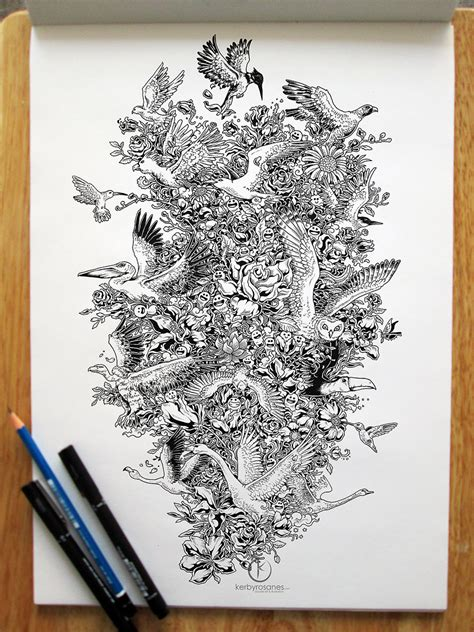 doodle drawing pen impressively detailed pen doodles by kerby rosanes bored
