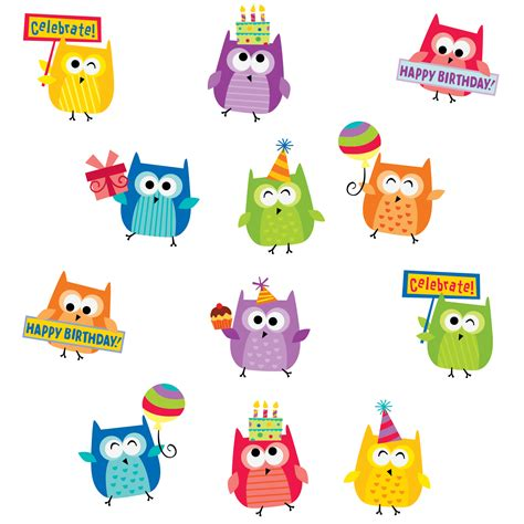 Home Decor Magazines Uk by Owl Happy Birthday Stickers Ctp4406 Primary Classroom