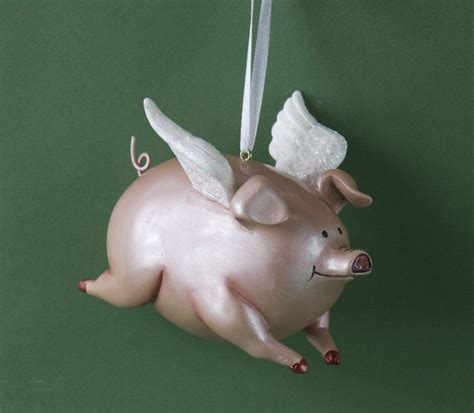 flying pig ornament item 483645 the christmas mouse