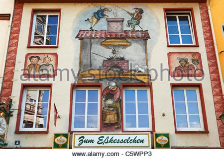 watercolor tattoo rheinland pfalz painting of max and moritz koblenz germany stock photo