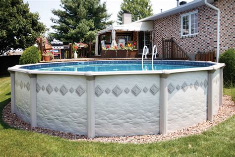 backyard leisure trevi outdoor leisure swimming pool on ground in ground