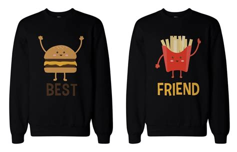 Hoodie Rock Is Not A Crime Fightmerch burger and fries bff sweatshirts best friend matching