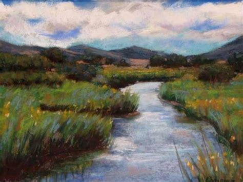 Small Country Home quot meandering stream quot virginia carvour paintings