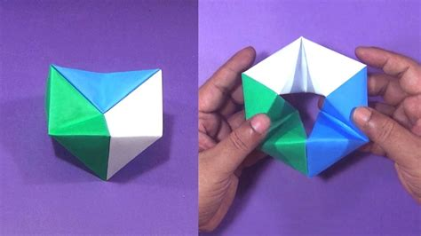 How To Make Cool Origami Toys - origami hexaflexagon