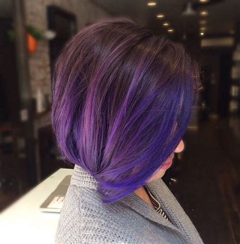red hair with blue highlights 40 versatile ideas of purple highlights for blonde brown