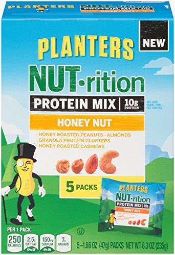 Planters Nutrition Digestive Health Mix by Planters Nutrition Protein Mix Honey Nut 8 3 Ounce