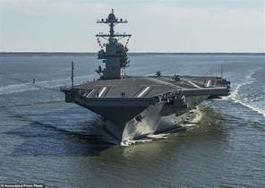 Gerald Ford Carrier Uss Gerald R Ford Tested For The Time Daily Mail