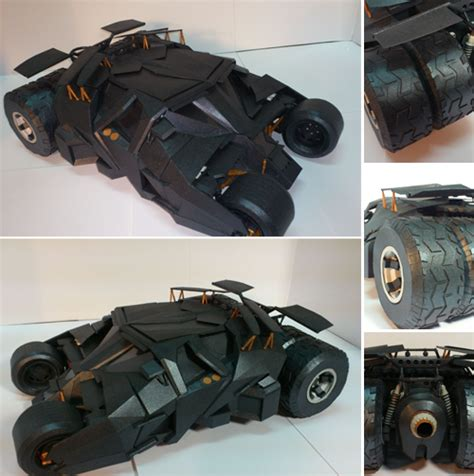 Batmobile Papercraft - batman begins tumbler papercraft