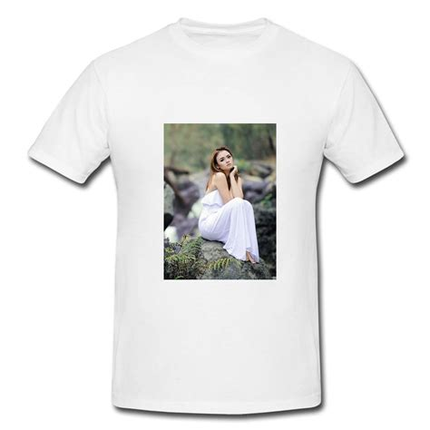 Customised White Poly Cotton T Shirt With 6 Picture Collage Print by Customised White Poly Cotton T Shirt Xl T Shirt At Best Prices