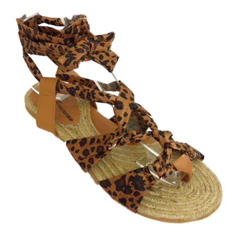 sandals that wrap around the ankle womens leopard wrap around ankle sandals summer