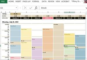 Employee Leave Schedule Template by Employee Schedule Hourly Increment Template For Excel