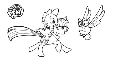 free coloring pages of spike de little pony