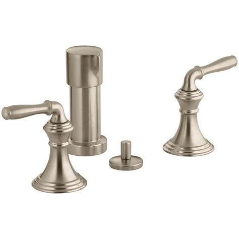 Bidet Plumbing by Kohler Devonshire 2 Handle Bidet Faucet In Vibrant Brushed