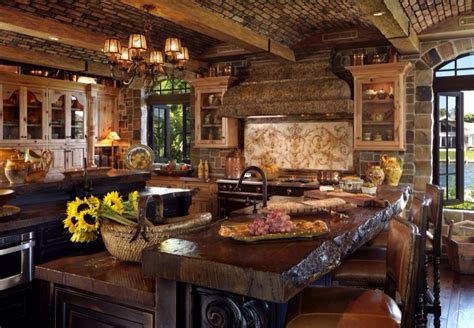 country kitchen with inset cabinets amp exposed beam