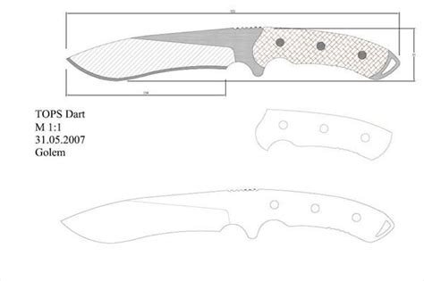 layout blade template modelo 165 facas knife em escala 1 1 pinterest