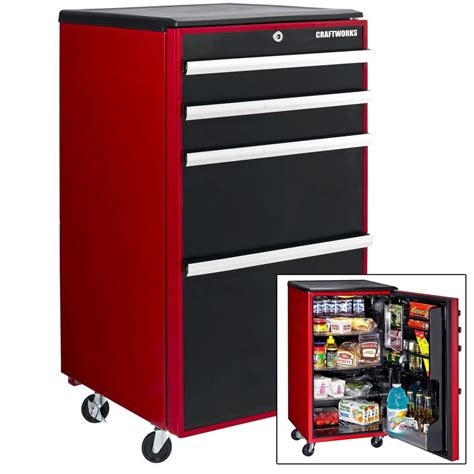 laziness idea i put our mini fridge in a corner of our mini fridge that looks like a toolbox give me an idea