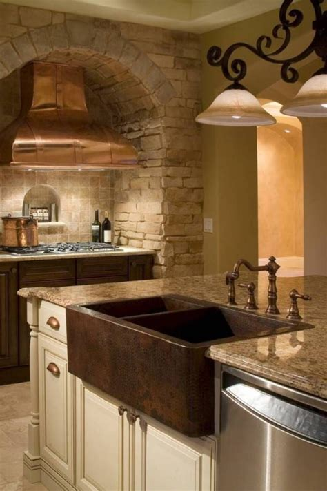 kitchen fine  copper kitchen sink double bowl