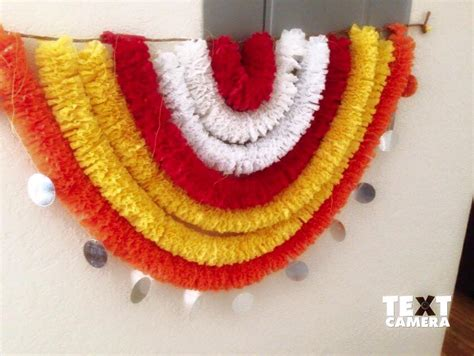 How To Make Crepe Paper Garland - crepe paper garlands using for decoration simple craft ideas