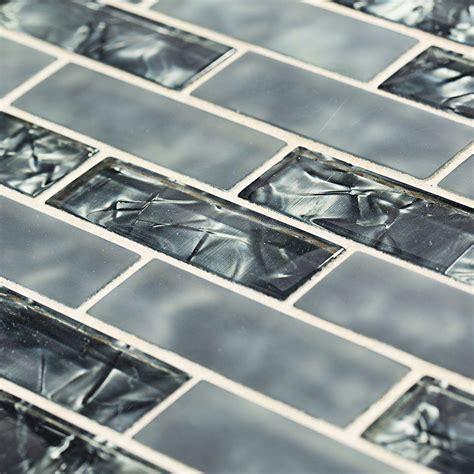 jeffrey court black magic 12 in x 12 in glass brick