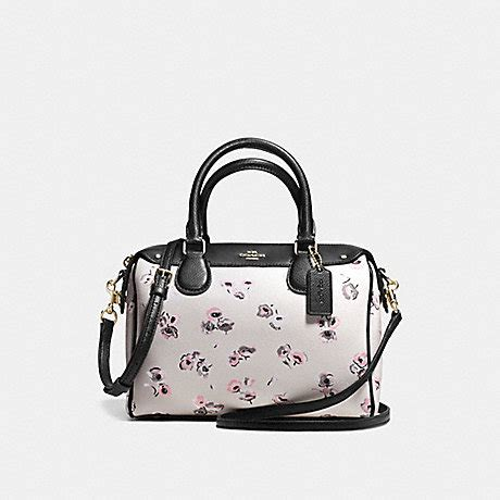 Coach Bennet Chalk coach f37491 mini satchel in small wildflower print coated canvas imitation gold