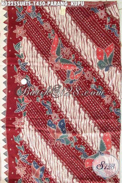 Celana Motif Bahan Crepe kain batik modern klasik warna merah bahan crepe