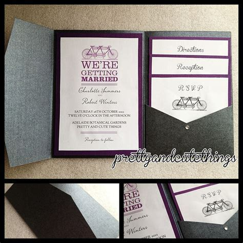 BLACK METALLIC SHIMMER WEDDING INVITATIONS DIY POCKET
