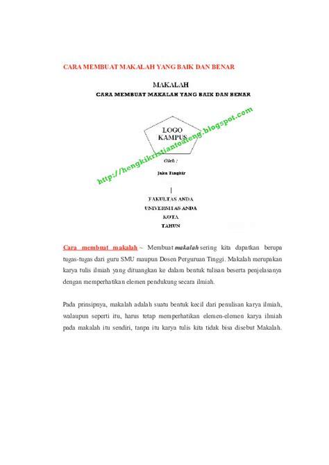 (DOC) CARA MEMBUAT MAKALAH YANG BAIK DAN BENAR | Saiful