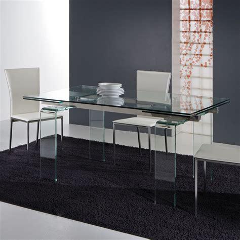 tavolo allungabile vetro trasparente tavolo allungabile vetro tavoli da cucina in vetro