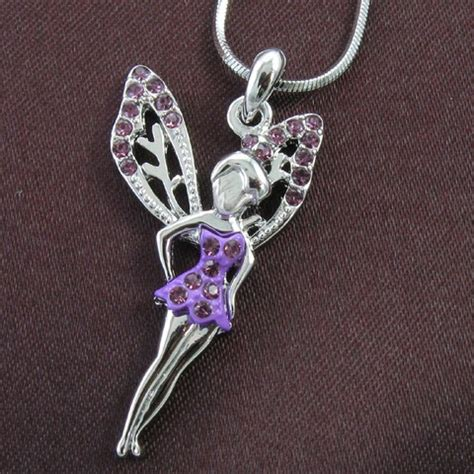 Rhinestone Wing Necklace purple rhinestone wing necklace pendant ebay