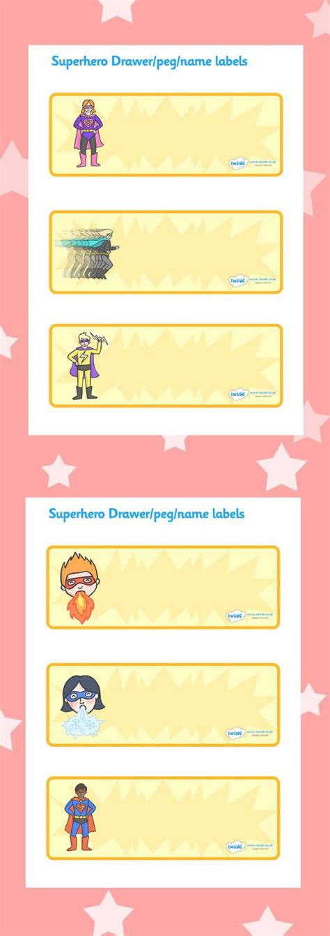printable book labels ks2 twinkl resources superhero drawer peg labels classroom