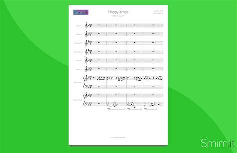 lennon merry testo happy partitura per orchestra scolastica