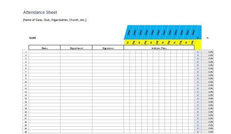 church attendance card template 38 free printable attendance sheet templates