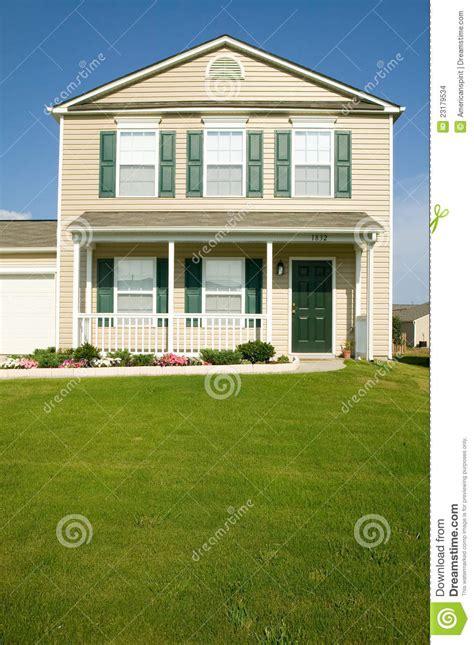house development stock photos image 1156783 single house in new housing development editorial stock