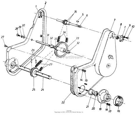 mtd parts diagram mtd mtd snowflite 316 960 205 parts diagram for chain