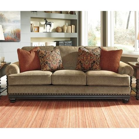 ashley fabric sofa ashley elnora fabric sofa in umber 9370238