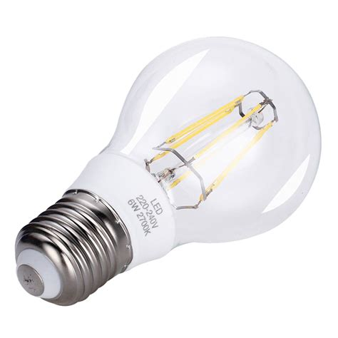 60w replacement led light bulb 6w e27 led bulb led filament bulb equal to 60w