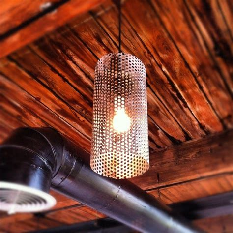 custom pendant lights crafted custom perforated metal pendant lights by
