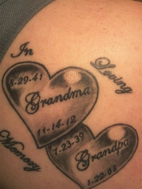 tattoo for grandma best 25 grandparents ideas on