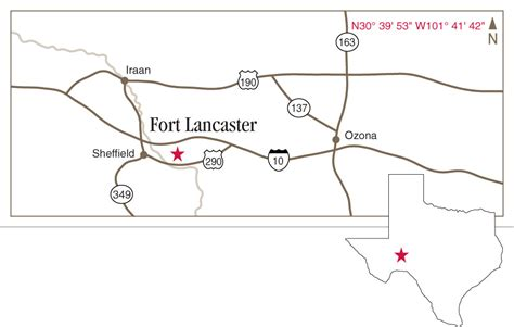 sheffield texas map fort lancaster state historic site sheffield texas texas historical commission
