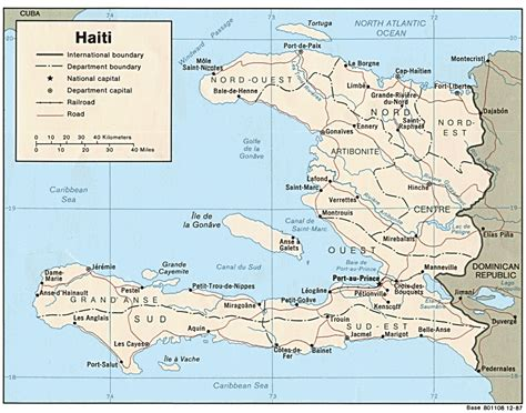 haiti on map haiti maps perry casta 241 eda map collection ut library
