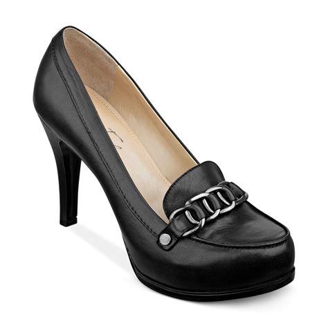 black loafer pumps marc fisher mar fisher isla loafer platform pumps in black