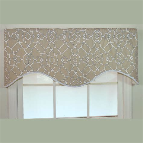 Window Valance Heaven Neutral Scalloped Window Valance
