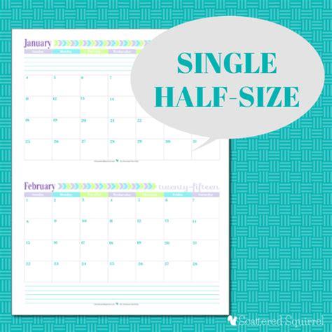 inspirational print calendar two months per page calendar