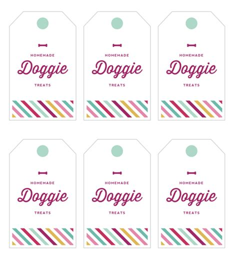 printable dog gift tags 6 best images of dog treat labels free printable dog