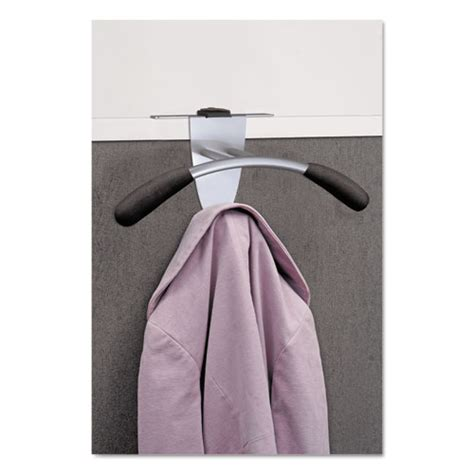 Alba Time Silver Black hanger shaped partition coat hook by alba abapmmouspart
