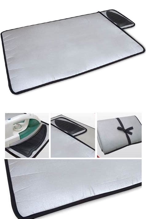 portable ironing mat with silicone iron rest