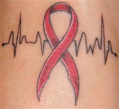 heart ribbon tattoo 25 best ideas about disease on