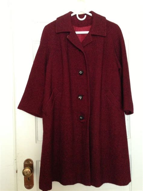 red swing coat swing coat 50s 60s red and black tweed vintage