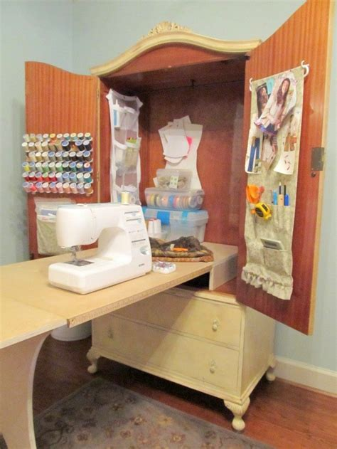 diy sewing armoire french armoire sewing cabinet diy projects for everyone