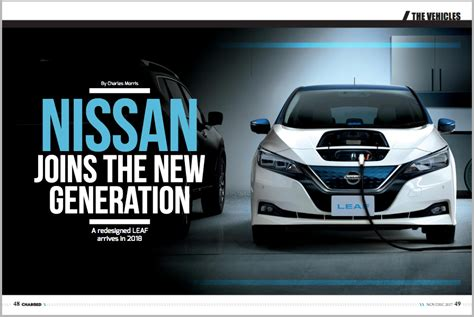 nissan leaf ad charged evs a redesigned nissan leaf arrives in 2018